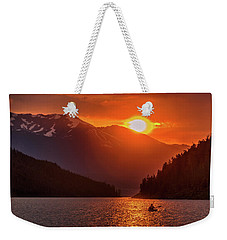 Kayak In The Sunset Glow Weekender Tote Bag