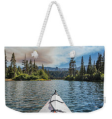 Kayak Views Weekender Tote Bag by Alpha Wanderlust