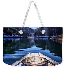 Kayaking In Mccloud Weekender Tote Bag