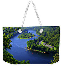 Weekender Tote Bag featuring the photograph Kayaking The Delaware River by Raymond Salani III