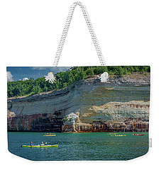 Kayaking The Pictured Rocks Weekender Tote Bag