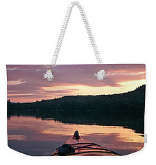 Kayaking Under A Gorgeous Sundown Sky On Concord Pond Weekender Tote Bag