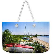 Kayaks On The Beach Weekender Tote Bag