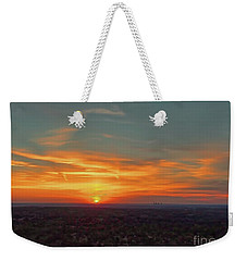 Weekender Tote Bag featuring the photograph Kc Sunset by Dave Luebbert