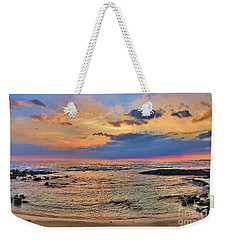 Weekender Tote Bag featuring the photograph Keahuolu Point by DJ Florek