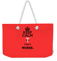Keep Calm, Lpn Weekender Tote Bag