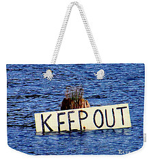 Weekender Tote Bag featuring the photograph Keep Out 3 by Sadie Reneau