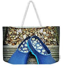Keep Smiling And Carry On Weekender Tote Bag