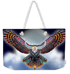 Weekender Tote Bag featuring the digital art Keeper Of The Night by Iowan Stone-Flowers