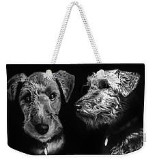 Keeper The Welsh Terrier Weekender Tote Bag by Peter Piatt