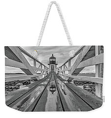Weekender Tote Bag featuring the photograph Keeper's Walkway At Marshall Point by Rick Berk