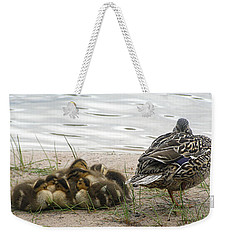 Weekender Tote Bag featuring the photograph Keeping Watch by Angie Rea