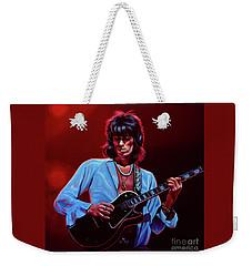 Keith Richards The Riffmaster Weekender Tote Bag by Paul Meijering