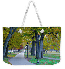 Weekender Tote Bag featuring the photograph Kelly Drive In Autumn by Bill Cannon
