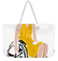 Weekender Tote Bag featuring the digital art Kelly by Nancy Levan