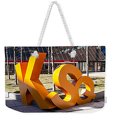 Kendall Square Sign Cambridge Ma Weekender Tote Bag