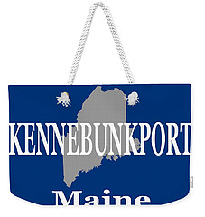 Weekender Tote Bag featuring the photograph Kennebunk Maine State City And Town Pride  by Keith Webber Jr