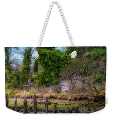 Weekender Tote Bag featuring the photograph Kennetpans Distillery Ruins by Jeremy Lavender Photography