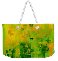 Weekender Tote Bag featuring the painting Kenny's Room by Holly Carmichael
