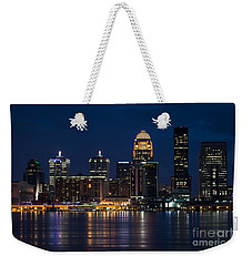 Louisville At Night Weekender Tote Bag