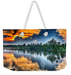 Weekender Tote Bag featuring the photograph Kentucky Sunset June 2016 by Sumoflam Photography