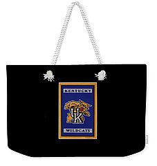 Ky Wildcats Logo T-shirt Weekender Tote Bag by Herb Strobino