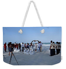 Kenya Wedding On Beach 2 With Maasai Weekender Tote Bag