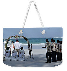Kenya Wedding On Beach Happy Couple Weekender Tote Bag