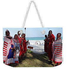 Kenya Wedding On Beach Maasai Bridal Welcome Weekender Tote Bag