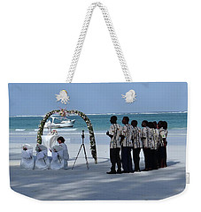Kenya Wedding On Beach Singers Weekender Tote Bag