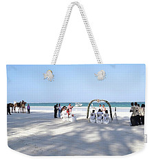 Kenya Wedding On Beach Wide Scene Weekender Tote Bag