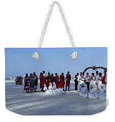 Kenya Wedding On Beach With Maasai Weekender Tote Bag