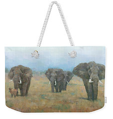 Kenyan Elephants Weekender Tote Bag