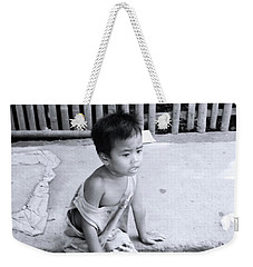 Weekender Tote Bag featuring the photograph Kerb Seat by Jez C Self
