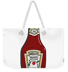 Ketchup Weekender Tote Bag by George Pedro