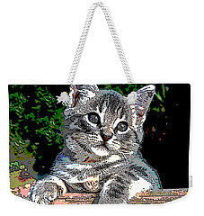 Ketten On The Fence Weekender Tote Bag by Charles Shoup