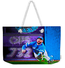 Kevin Pillar In Action II Weekender Tote Bag by Nina Silver