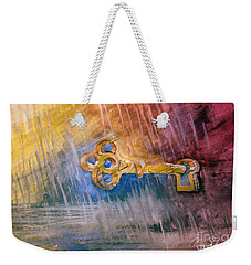 Weekender Tote Bag featuring the painting Key by Allison Ashton