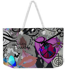 Key To Energy Of Peace  Weekender Tote Bag by Bobbee Rickard