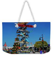 Key West Destination Sign Weekender Tote Bag