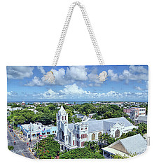 Weekender Tote Bag featuring the photograph Key West by Olga Hamilton