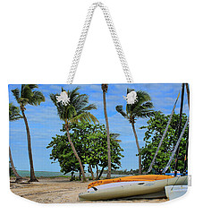 Key West - Sailboats On Beach 3 Weekender Tote Bag