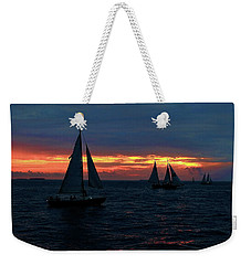 Key West Sunset - Ships Weekender Tote Bag