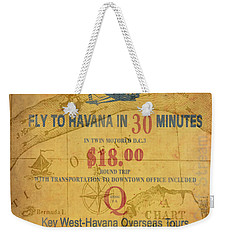 Key West To Havana Weekender Tote Bag