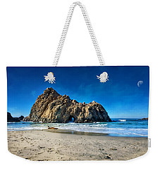 Weekender Tote Bag featuring the photograph Keyhole Rock At Pheiffer Beach #14 - Big Sur, Ca by Jennifer Rondinelli Reilly - Fine Art Photography