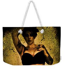 Weekender Tote Bag featuring the digital art Khrist 1 by Mark Baranowski