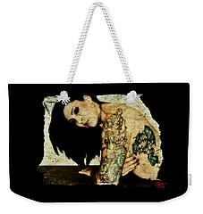Weekender Tote Bag featuring the digital art Khrist 2 by Mark Baranowski