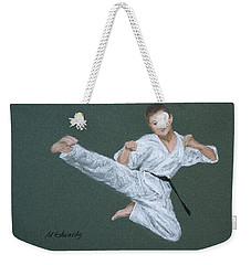 Kick Fighter Weekender Tote Bag by Marna Edwards Flavell