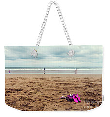 Weekender Tote Bag featuring the photograph Kick Off Your Shoes by Linda Lees
