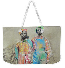Kickin' It -- Black Children From 1930s Weekender Tote Bag